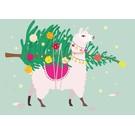 crissXcross Postkarte - Christmas tree delivery