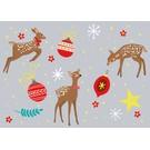 cc119   crissXcross   christmas bambi - Postkarte A6