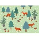 crissXcross Postkarte - christmas wood