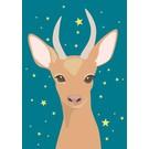 crissXcross Postkarte - bambi at night