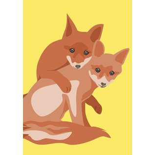 Postkarte - fox