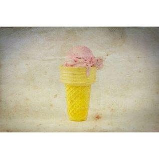b001   brocante   Ice Cream Cone - postcard A6