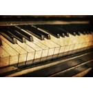 b010 | brocante | Klavier - Postkarte A6