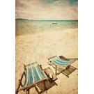 b012 | brocante | Strandstühle - Postkarte A6