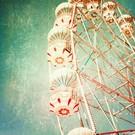 b017 | brocante | Ferris Wheel - postcard A6