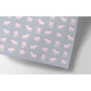 crissXcross Geschenkpapier - Schwein