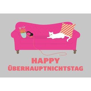 luminous Postkarte - Happy Überhauptnichtstag