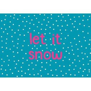 Postkarte - let it snow
