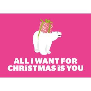 Postkarte - All I want for Christmas...