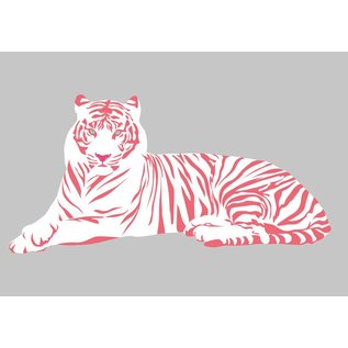 luminous Postkarte - White Tiger