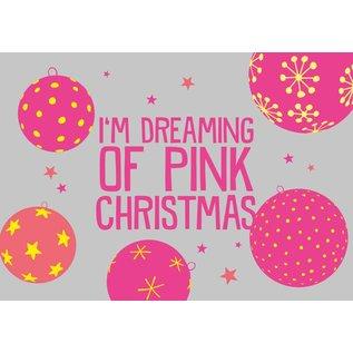 Postkarte - I´m dreaming of pink Christmas