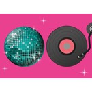 luminous Postkarte - Disco