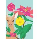 lu077 | luminous | Christmas Bambi - postcard A6