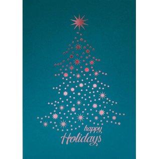 pu060 | Pure | Happy Holidays - petrol - folding card  B6
