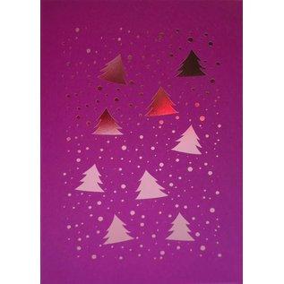 pu066 | Pure | Many Trees Pink - folding card  B6
