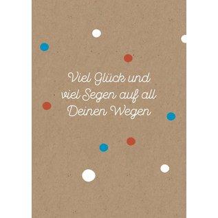 Designfräulein Postkarte - Viel Glück und viel Segen