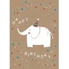 df012 | Designfräulein | Elefant - Postkarte A6