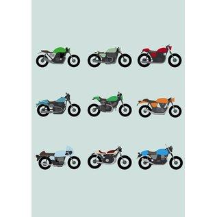crissXcross Druck A4 - Motorräder