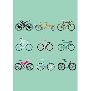 Druck A4 - Fahrräder
