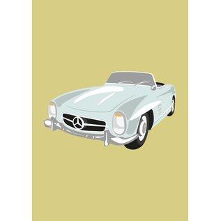 Druck A4 - Mercedes 300SL, 1960
