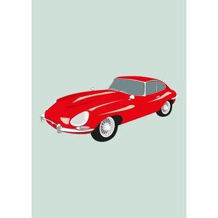 Druck A4 - Jaguar E-Type, 1955