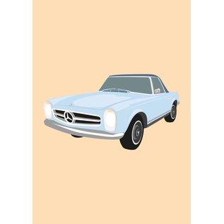 Druck A4 - Mercedes 280SL Pagode, 1968