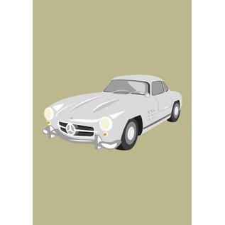Classic Druck A3 - Mercedes 300SL, 1954