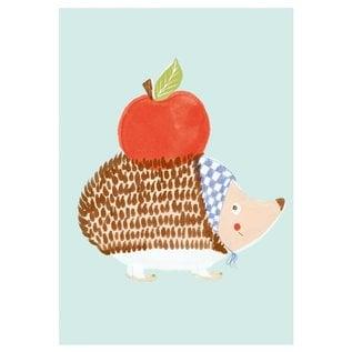 SG161   schönegrüsse   Fairytale Hedgehog - postcard A6