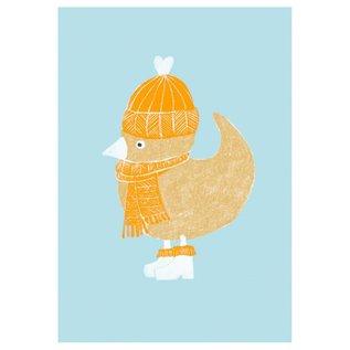 SG164   schönegrüsse   Circus - Vogel - Postkarte A6