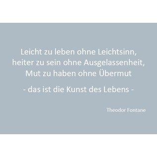 Wortsinn - Leicht zu leben... Theodor Fontane