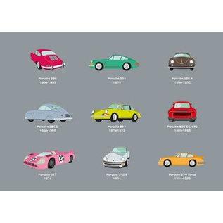 Postkarte - Porsche grau