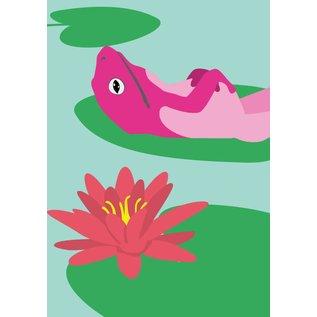 Postkarte - Frosch