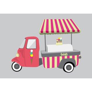 Postkarte - Eiswagen