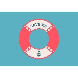 Postkarte - save me