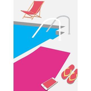 Postkarte A5 - Pool