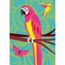 lu905 | luminous | Parrot - postcard DIN A5