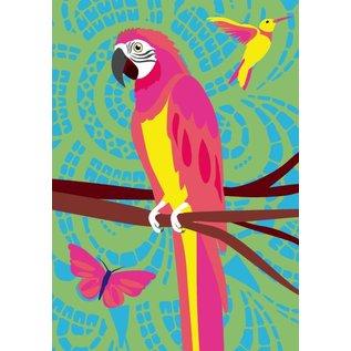 Postkarte A5 - Parrot