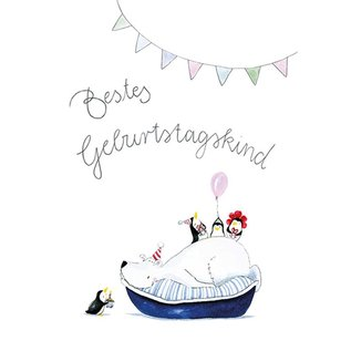 tg050   Tabea Güttner   Bestes Geburtstagskind - Klappkarte B6