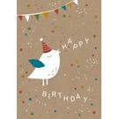 df021 | Designfräulein | Partyvögelchen - Postkarte A6