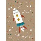 df022 | Designfräulein | Birthday Rocket - postcard A6
