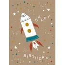 df022 | Designfräulein | Geburtstagsrakete - Postkarte A6