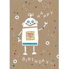 df023 | Designfräulein | Happy Robo - Postkarte A6