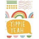 df025 | Designfräulein | Yippie Yeah - Postkarte A6