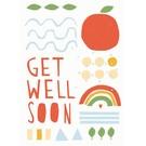 df028 | Designfräulein | Get Well Soon - Postkarte A6