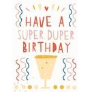 df031 | Designfräulein | Super Duper Birthday - Postkarte A6