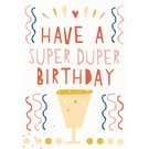 Postkarte - Super Duper Birthday