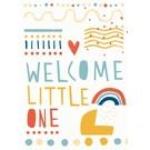 df032 Postkarte - Colourful Baby