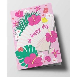 ha302 | happiness | Oh Happy Day - folding card