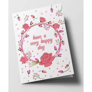 ha303 | happiness | Have A Very Happy Day - folding card
