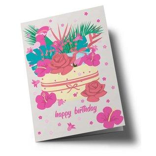 ha305   happiness   Happy Birthday - Klappkarte